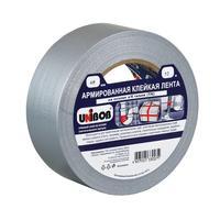 Клейкая лента армированная Unibob серая 48 мм х 10 м толщина 190 мкм
