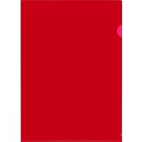 Папка-уголок Attache A4 пластиковая 120 мкм красная (20 штук в упаковке)