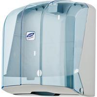 Диспенсер для полотенец лист Luscan Professional V синий/прозрачный
