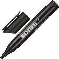 Маркер перманентный Kores черный (толщина линии 3-5 мм) скошенный наконечник