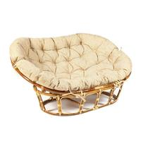 Кресло Mamasan Eco Skin с подушкой (светло-бежевый, 1750х1100х820 мм)