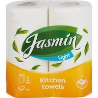 Полотенца бумажные Jasmin Light 2-слойные белые 2 рулона по 12 метров