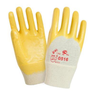 Перчатки рабочие трикотажные 2Hands 0516 с легким нитриловым покрытием (манжета резинка размер 10)