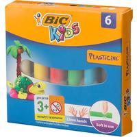 Пластилин классический Bic Kids 6 цветов 70 г