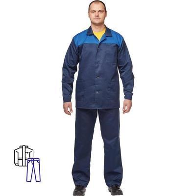 Костюм рабочий летний мужской л16-КБР синий/васильковый (размер 48-50, рост 158-164)