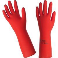 Перчатки Mapa Vital/Duo-Nit 181 из нитрила и латекса красные (размер 7, S, пер442007)