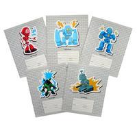Тетрадь школьная Канц-Эксмо Роботы А5 18 листов в линейку (обложка в ассортименте)