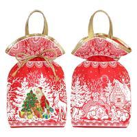 Новогодний сладкий  подарок мешочек Большой красный 1200 г (с Milky Way  и купоном)