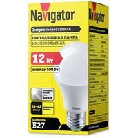 Лампа светодиодная Navigator NLL-A60-12-24/48-4K-E27 (61478)