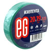 Изолента EG ПВХ 19 мм x 20 м зеленая