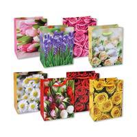 Пакет подарочный ламинированный Цветы (13.7x11.1x6.2 см)