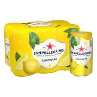 Напиток S.Pellegrino сокосодержащий лимон газированный  0.33 л (6 штук в упаковке)