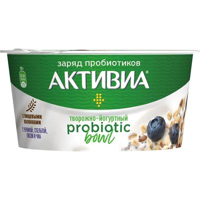 Йогурт Активиа Probiotic Bowl черника/спельта/овес/чиа 3.5% 135 г