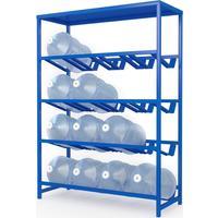 Стеллаж для бутилированной воды Бомис-16П на 16 тар по 19л синий