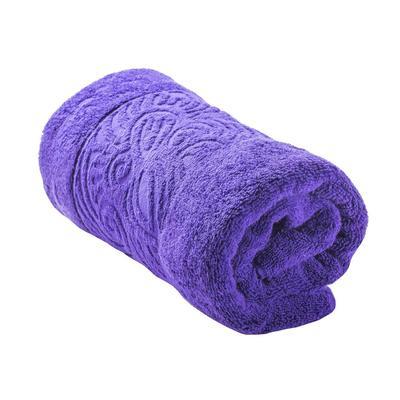 Набор полотенец махровых Лабиринт 50х90 см 1 штука 70х140 см 1 штука 500 г/кв.м фиолетовые