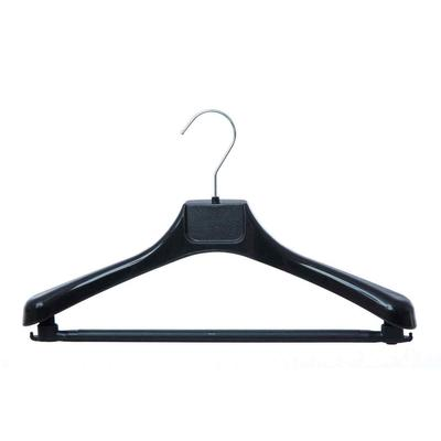Вешалка-плечики пластмассовая Attache с перекладиной черная (размер 44-46)