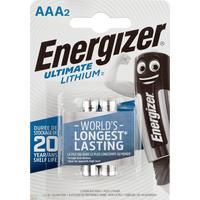 Батарейки Energizer Ultimate Lithium мизинчиковые АAА LR03 (2 штуки в упаковке)