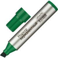 Маркер перманентный Attache зеленый (толщина линии 3-10 мм) скошенный наконечник