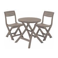 Набор складной мебели Jazz set cappuccino (стол, 2 стула)