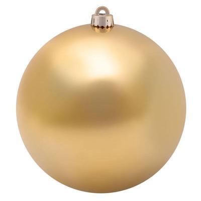 Новогодний шар  пластик золотистый (диаметр 20 см)