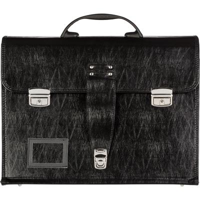 Портфель Алекс для секретных документов из искусственной кожи черного цвета (1031-6)