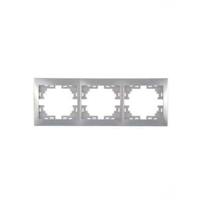 Рамка трехместная Lezard Mira серый металлик (701-1000-148)