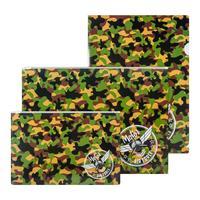 Набор папок №1 School Military 3 штуки в упаковке (уголок А4, конверт на  молнии А4, А5)