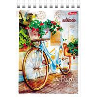 Блокнот Hatber Лето на велосипеде А6 80 листов на спирали
