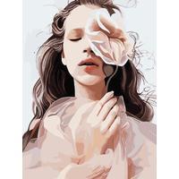 Картина по номерам Цветной Нежная красота