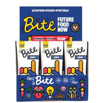 Батончик Bite Спорт арахис/банан 45 г (20 штук в упаковке)