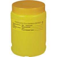 Упаковка для сбора медицинских отходов Олданс с иглоотсеком класс Б желтая 1 л
