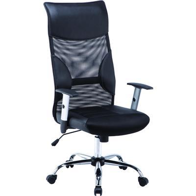 Кресло для руководителя Easy Chair 577 TTW черное (искусственная кожа/сетка/ткань, металл)