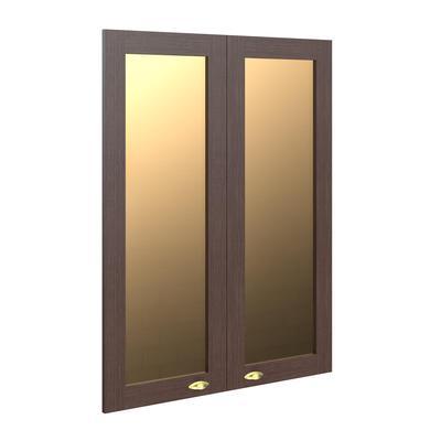 Двери стеклянные Raut RGFD42-2 в рамке (2 штуки, венге/бронза, 880х26х1132 мм)