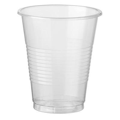 Стакан одноразовый пластиковый 200 мл прозрачный 10 штук в упаковке