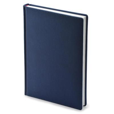Ежедневник недатированный Attache Velvet искусственная кожа Soft Touch  A5+ 136 листов синий (146х206 мм)