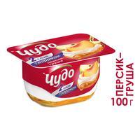 Десерт творожный Чудо персик-груша 4.2% 100 г