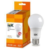 Лампа светодиодная IEK 20 Вт E27 грушевидная 3000 К теплый белый свет