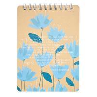Блокнот Be Smart Pastel Голубые цветы A6 100 листов в клетку на спирали