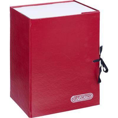Папка архивная на 2-х завязках Attache А4 150 мм бумвинил до 1500 листов красная складная