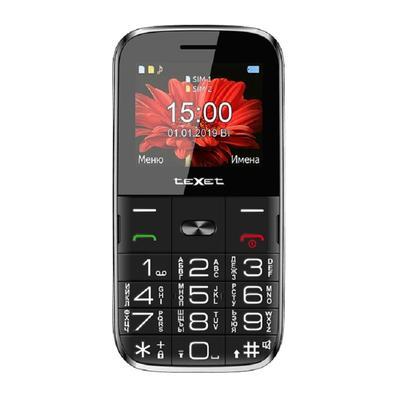Мобильный телефон teXet TM-227B черный