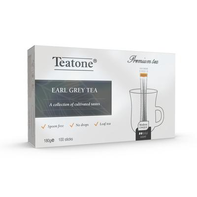 Чай Teatone черный с бергамотом 100 стиков