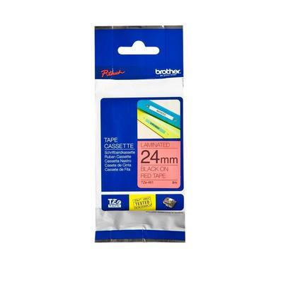 Картридж для принтера этикеток Brother TZe-451 (24 мм х 8 м, цвет ленты красный, шрифт черный)