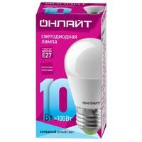 Лампа светодиодная ОНЛАЙТ 10 Вт Е 27 шарообразная 4000 К нейтральный белый свет