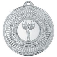 Медаль призовая 2 место Ника 50 мм серебристая