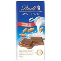 Шоколад Lindt молочный с цельным миндалем 100 г