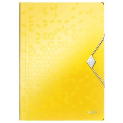 Папка на резинках Leitz Wow A4 пластиковая желтая (0.7, до 150 листов)
