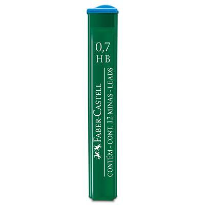 Стержень микрографический HB 0.7 мм Faber-Castell Polymer (12 грифелей)