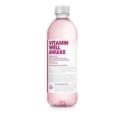 Напиток Vitamin Well Awake со вкусом малины негазированный 0.5 л (12 штук в упаковке)