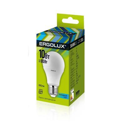 Лампа светодиодная Ergolux 10 Вт Е27 грушевидная 4500 К холодный белый свет