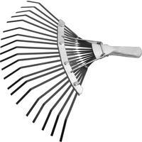 Грабли веерные пластинчатые Сибртех 61778 сталь 38.5 см (без черенка)
